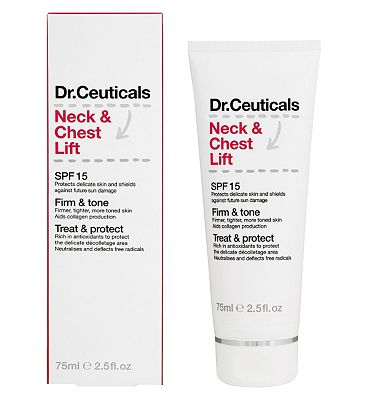 Dr Ceuticals Neck and Chest Lift SPF15 75ml.