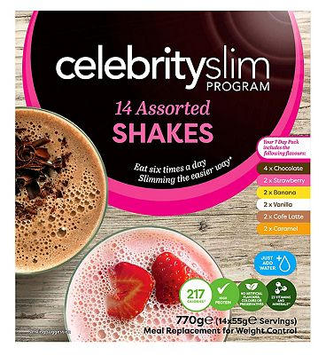Celebrity Slim 7 day Assorted Shake Pack