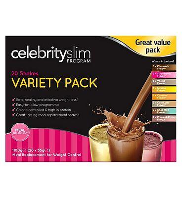 Celebrity Slim Variety Shake Pack - 20x55g