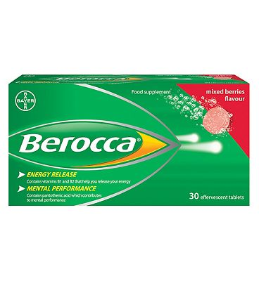 Berocca Mixed Berries flavour effervescent tablets - 30 tablets
