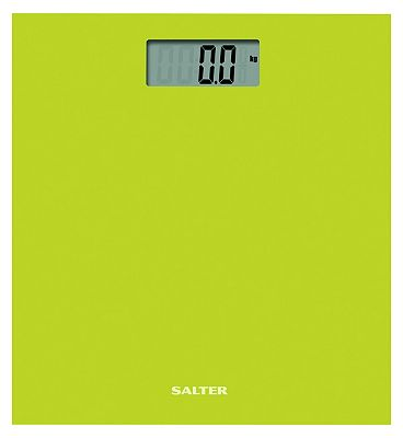 Salter Green Coloured Glass Electronic Scale 9069 GN3R
