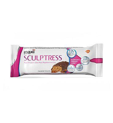 Maxitone Weight Loss System Sculptress Diet Caramel Crunch Flavour 60g