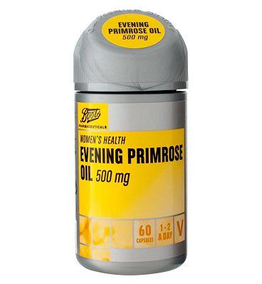 Boots EVENING PRIMROSE OIL 500 mg 60 capsules