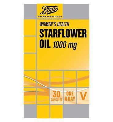 Boots Pharmaceuticals STARFLOWER OIL 1000 mg 30 capsules
