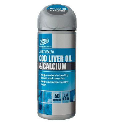 Boots  COD LIVER OIL & CALCIUM 60 capsules