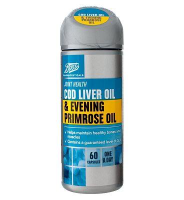 Boots COD LIVER OIL & EVENING PRIMROSE OIL 60 capsules