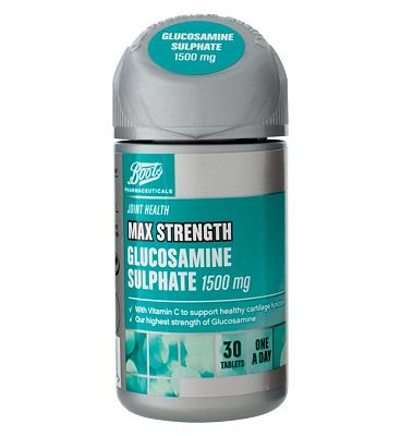 Boots MAX STRENGTH GLUCOSAMINE SULPHATE 1500 mg 30 tablets