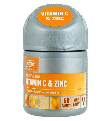 Boots VITAMIN C & ZINC 60 Tablets