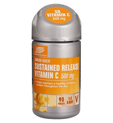 Boots SUSTAINED RELEASE VITAMIN C 500 mg 90 Tablets