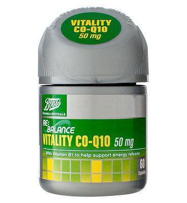 Boots RE:BALANCE VITALITY CO-Q10 50 mg  60 capsules