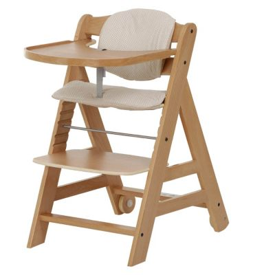 Hauck Beta Wooden High Chair- Natural