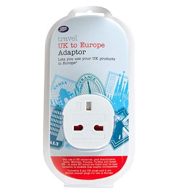 Boots UK to Europe Travel Plug Adaptor