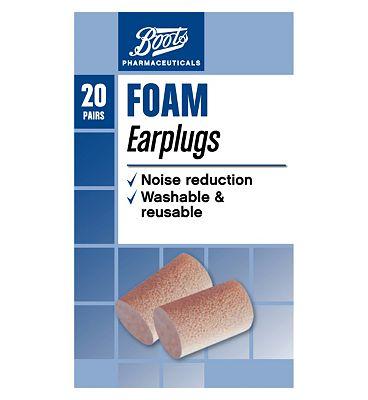 Boots Pharmaceuticals Foam Ear Plugs  20s