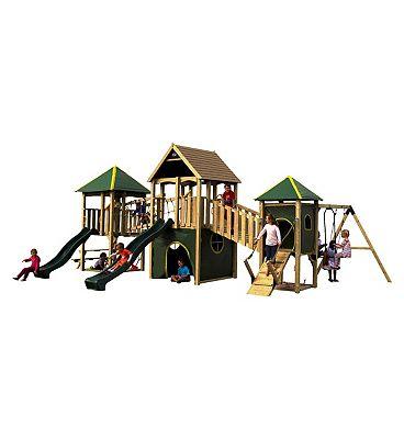 Plum Wildebeest Large Wooden Play Centre