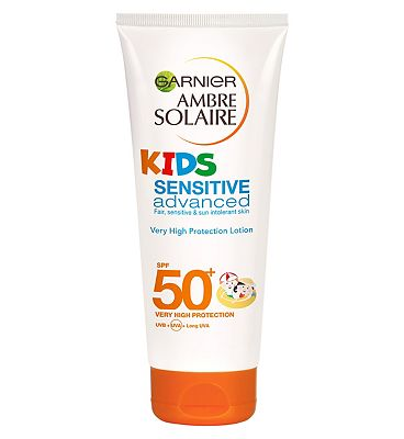 Garnier Ambre Solaire Kids Sensitive Advanced Sun Cream SPF50 200ml