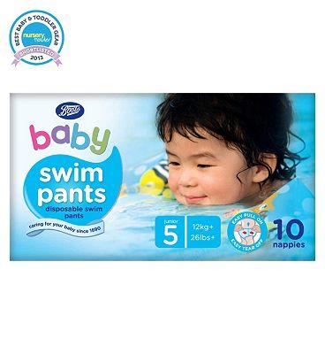 Boots Baby Swim Pants Size 5 Junior - 1 x 10 Pants.