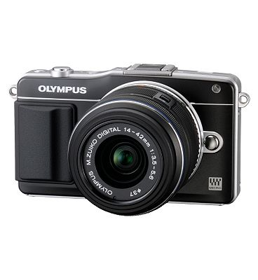 Olympus Pen EPM2 (16MP 3x Optical Zoom 3 inch Touch Screen LCD) Compact System Digital Camera  Black