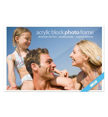Shot 2 Go Acrylic Block Photo Frame  4x6