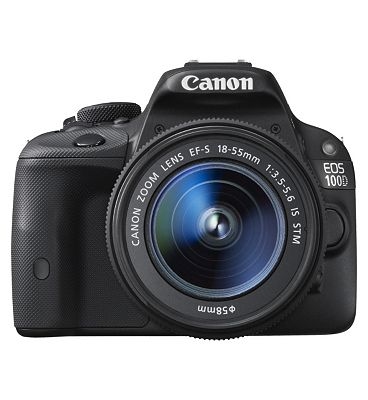 Canon EOS 100D (EF S 18 55mm IS STM Lens) (18MP, 3inch LCD) Digital SLR Camera