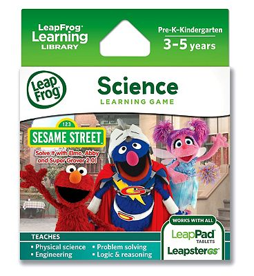 LeapFrog Explorer Learning Game Sesame Street Solve It with Elmo Abby & Super Grover 2.0
