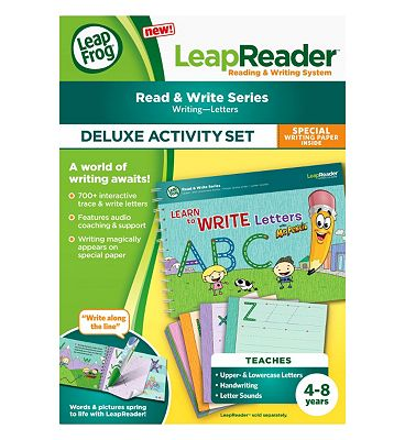 LeapFrog LeapReader Deluxe Workbook: Learn to Write Letters with Mr. Pencil.