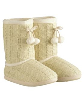 Buy So Snug Cable Knit Boot Slippers - Ladies accessories - Boots