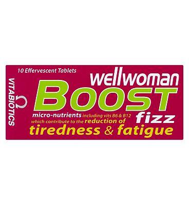Vitabiotics Wellwoman Boost Fizz 10 Effervescent Tablets