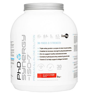 PhD Synergy-ISO-7 Strawberry Delight with sweetener - 2kg