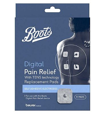 Boots TENS Digital Pain Relief Unit Replacement Pads  8 Pads