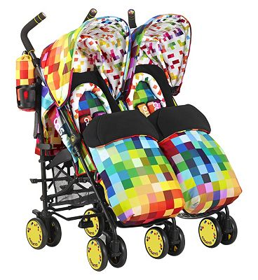 Cosatto Supa Dupa Twin Pushchair - Pixelate