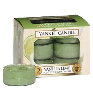Yankee Candle Classic Tealight Candles (12) Vanilla Lime.