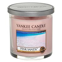 buy yankee candle small pillar candle in pink sands boots. Black Bedroom Furniture Sets. Home Design Ideas