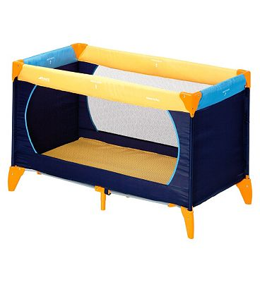Hauck Dream 'n Play Travel Cot - Yellow, Blue & Navy