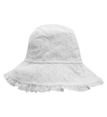 Girls Broidery Sun Hat - Mini Club