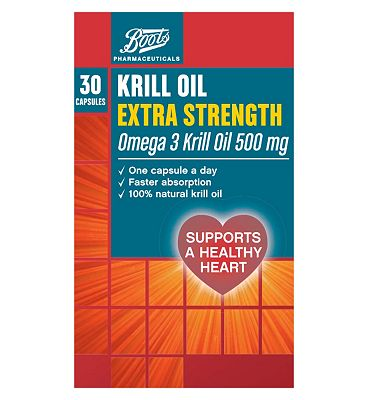 Boots Extra Strength Krill Oil 500mg
