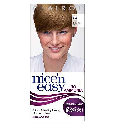 Nice'n Easy No-Ammonia Shade 73 Medium Ash Blonde up to 24 Shampoos.