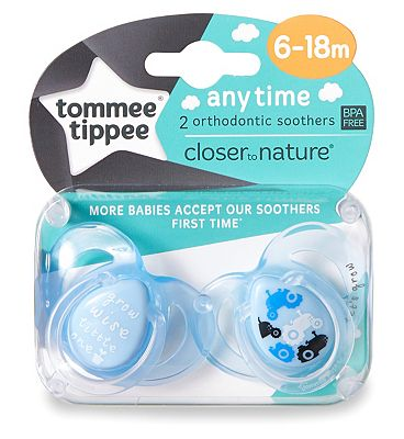 Tommee Tippee Closer to Nature Anytime Soother x2 - 6-18 months.