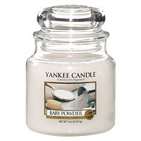 buy yankee candle medium jar baby powder home fragrance. Black Bedroom Furniture Sets. Home Design Ideas