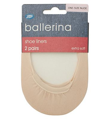 Ballerina Shoe Liners in Nude 2 Pack