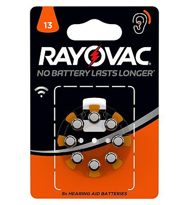 Rayovac Size 13 Hearing Aid Battery  8 Batteries