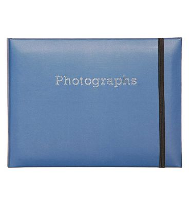 Boots Navy Blue SlipIn Photo Album 7x5 24 Photos
