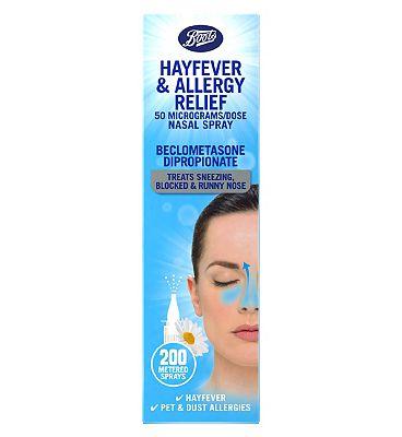 Boots Hayfever Relief 50 microgram Nasal Spray.