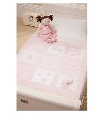 Silver Cross Luxury Cot and Cot Bed Quilt  Vintage Pink