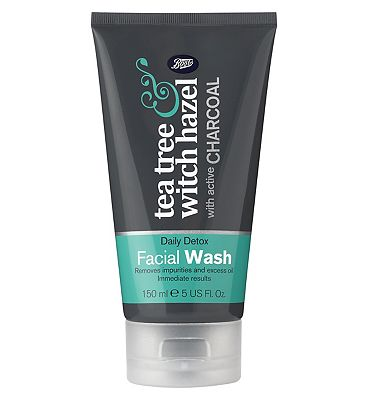 Boots Tea Tree & Witch Hazel Charcoal Facial Wash.