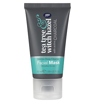 Boots Tea Tree & Witch Hazel Charcoal Face Mask
