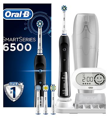 OralB Pro 6500 Black Smart Series with Bluetooth technology Electric Toothbrush  powered by Braun  Exclusive to Boots