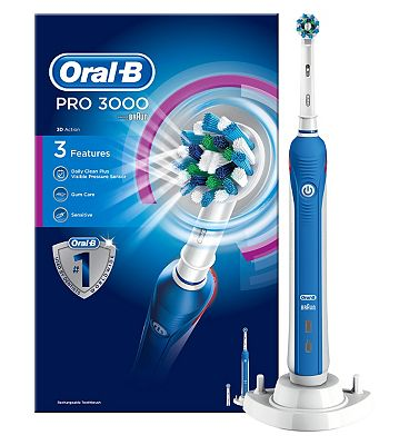 OralB Pro 3000 Rechargeable Electric Toothbrush  powered by Braun