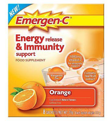 Emergen-C Super Orange Sachets with sweetener - 8 x 9.8 g