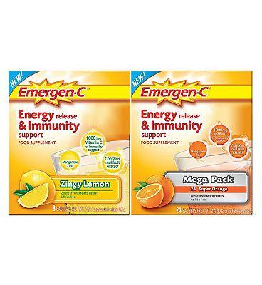 Emergen-C Sachets Variety  Pack with sweetener - 24 x 9.8 g