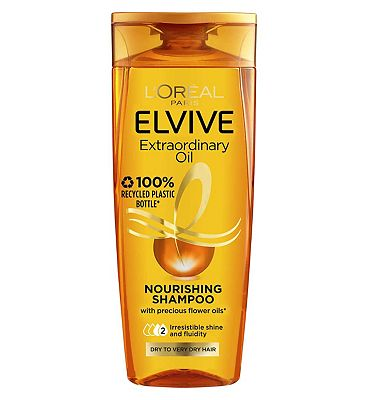 L'Oreal Elvive Extraordinary Oils Nourishing Shampoo Dry To Rough Hair 250ml at Boots the Chemist